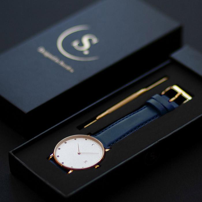 Picture Blue Vegan watch strap Sandell