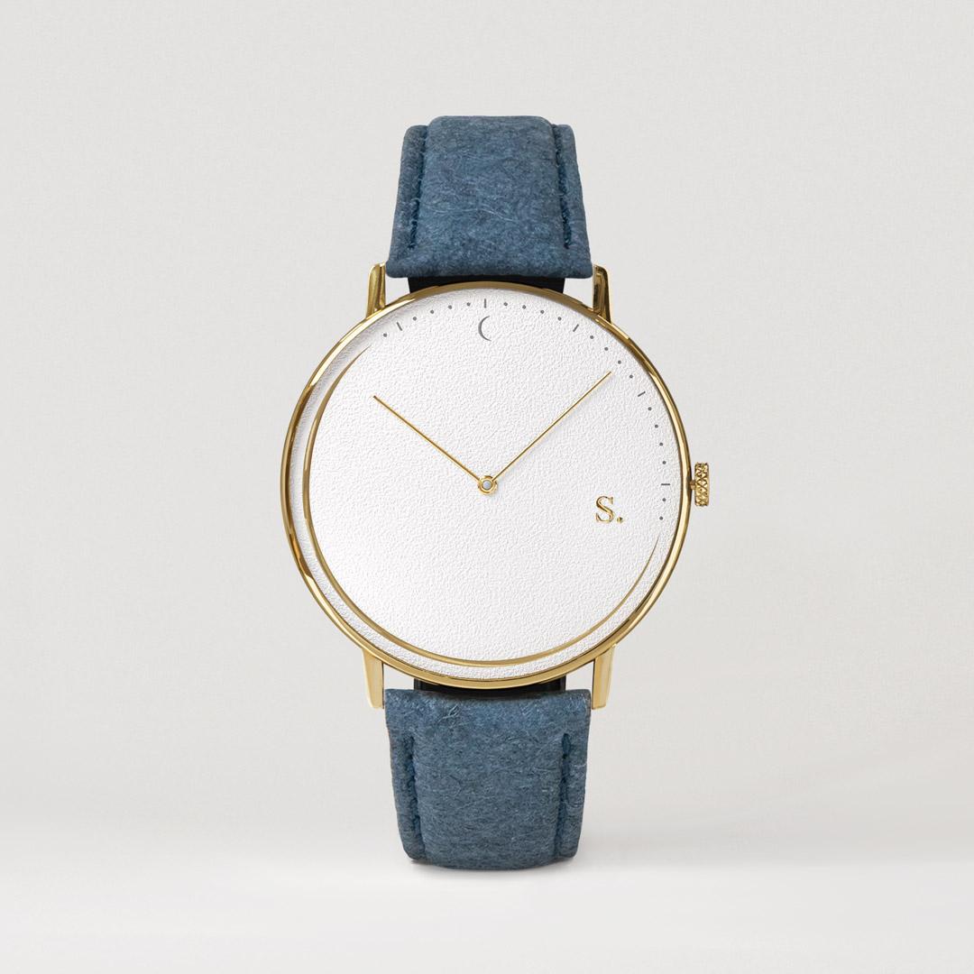 Wrist watch blue pineapple